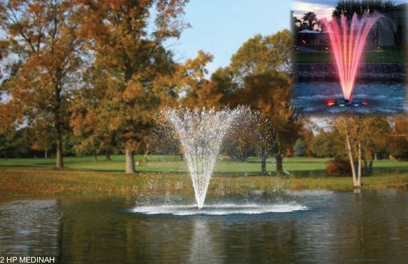 Medinah drijvende fontein