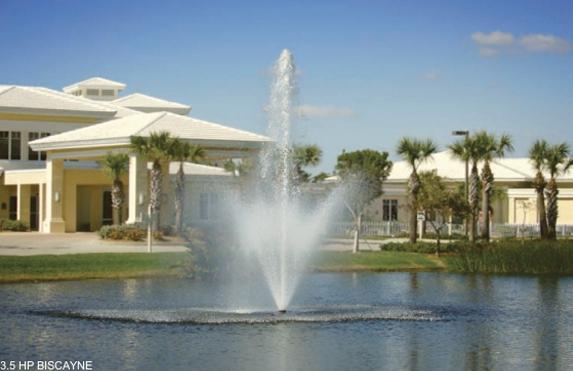 Biscayne drijvende fontein