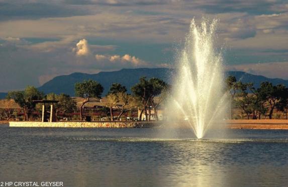 drijvende fontein Crystal Geyser