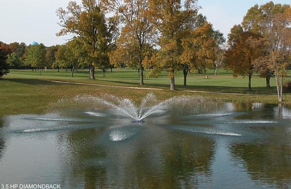drijvende fontein Diamondback