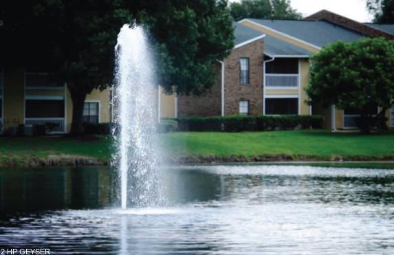 Geyser drijvende fontein