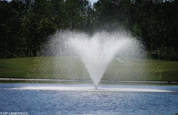 Lakewood drijvende fontein